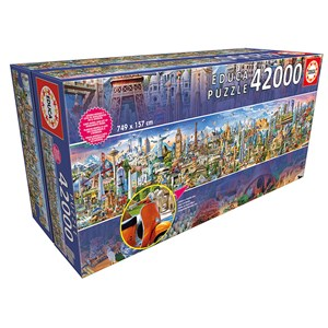 "Educa (17570) - ""Around the world"" - 42000 pieces puzzle"