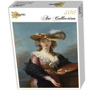 """Grafika (02173) - Élisabeth Vigée Le Brun: """"Self-portrait in a Straw Hat, 1782"""" - 300 pieces puzzle"""