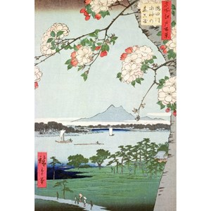 """Puzzle Michele Wilson (A974-350) - Utagawa (Ando) Hiroshige: """"Apple Trees in Bloom"""" - 350 pieces puzzle"""