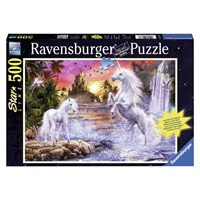 "Ravensburger (14873) - ""Unicorns At the River"" - 500 pieces puzzle"