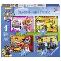 "Ravensburger (07033) - ""Paw Patrol, Puppies"" - 12 16 20 24 pieces puzzle"