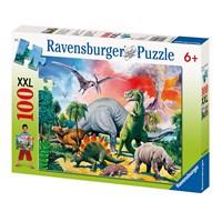 """Ravensburger (10957) - """"Dinosaurs"""" - 100 pieces puzzle"""