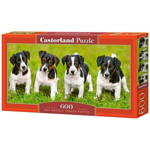 "Castorland (B-060337) - Jack Russell: ""Terrier Puppies"" - 600 pieces puzzle"