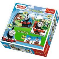"Trefl (90602) - ""Thomas & Friends + Memo"" - 30 48 pieces puzzle"