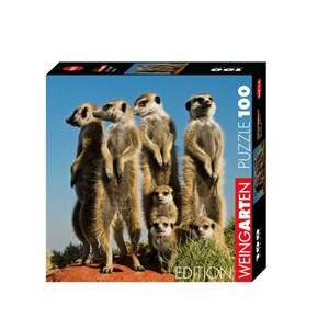 "Heye (29631) - Pete Oxford: ""Meerkats"" - 100 pieces puzzle"