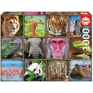 "Educa (17656) - ""Wild animals collage"" - 1000 pieces puzzle"
