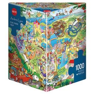"""Heye (29837) - Anders Lyon: """"Fun Park Trip"""" - 1000 pieces puzzle"""
