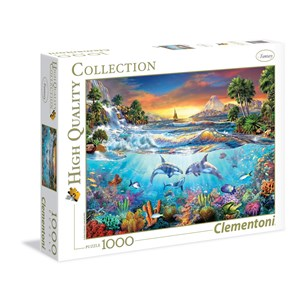 "Clementoni (39335) - Christian Riese Lassen: ""Under The Sea"" - 1000 pieces puzzle"