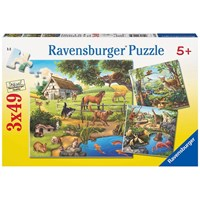 "Ravensburger (09265) - ""Wild, Pet and Zoo Animals"" - 49 pieces puzzle"