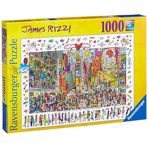 """Ravensburger (19069) - James Rizzi: """"Times Square, Everyone Should Go There"""" - 1000 pieces puzzle"""