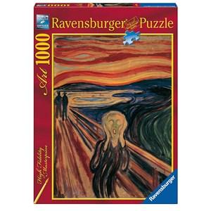 "Ravensburger (15758) - Edvard Munch: ""The Scream"" - 1000 pieces puzzle"