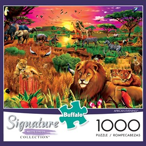 "Buffalo Games (1428) - Gerald Newton: ""African Evening"" - 1000 pieces puzzle"