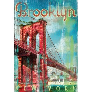 "Clementoni (37034) - Patrick Reid O'Brien: ""USA, New York, Brooklyn retro"" - 500 pieces puzzle"