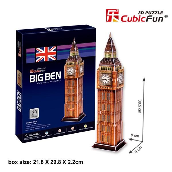 "Cubic Fun (C703H) - ""Big Ben"" - 30 pieces puzzle"