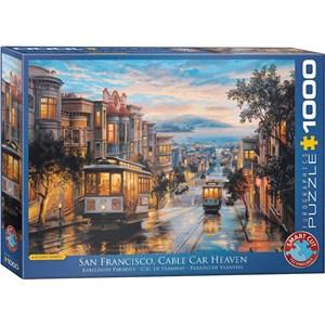 "Eurographics (6000-0957) - Eugene Lushpin: ""San Francisco Cable Car Heaven"" - 1000 pieces puzzle"