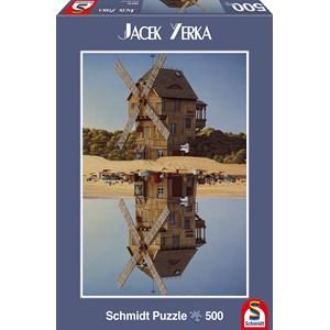 "Schmidt Spiele (59510) - Jacek Yerka: ""Reflection"" - 500 pieces puzzle"