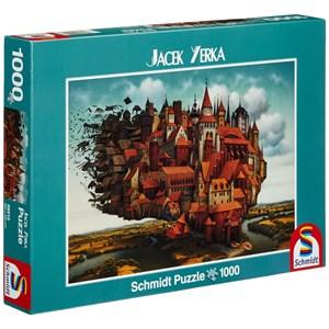 "Schmidt Spiele (59512) - Jacek Yerka: ""City on The Wing"" - 1000 pieces puzzle"