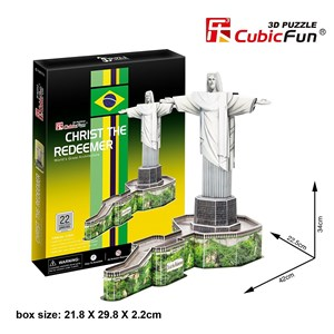 """Cubic Fun (C187H) - """"Christ The Redeemer, Brazil"""" - 22 pieces puzzle"""