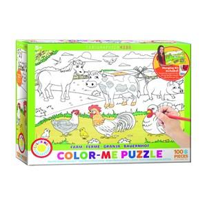 "Eurographics (6111-0893) - ""Farm"" - 100 pieces puzzle"