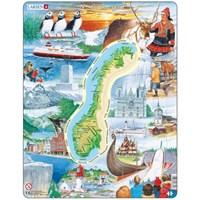 "Larsen (KS1) - ""Norway - attractions"" - 70 pieces puzzle"
