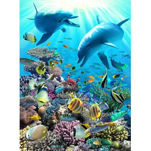 "Ravensburger (13022) - Royce B. McClure: ""Underwater Adventure"" - 300 pieces puzzle"