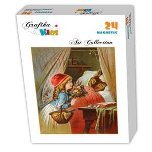"Grafika Kids (00239) - Carl Offterdinger: ""Little Red Riding Hood"" - 24 pieces puzzle"