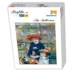 "Grafika Kids (00254) - Pierre-Auguste Renoir: ""The Two Sisters, On the Terrace, 1881"" - 24 pieces puzzle"