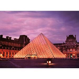 """Tomax Puzzles (50-012) - """"Louvre Pyramid, Paris"""" - 500 pieces puzzle"""