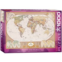 "Eurographics (6000-1272) - ""Map of the World"" - 1000 pieces puzzle"