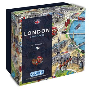 """Gibsons (G3402) - Maria Rabinsky: """"London Landmarks"""" - 500 pieces puzzle"""