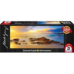 """Schmidt Spiele (59364) - Mark Gray: """"Friendly Beaches, Tasmania, Australia"""" - 136 pieces puzzle"""