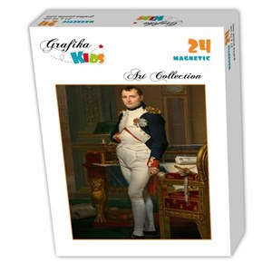 """Grafika Kids (00362) - Jacques-Louis David: """"The Emperor Napoleon in his study at the Tuileries, 1812"""" - 24 pieces puzzle"""