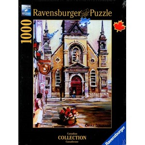 """Ravensburger (19626) - Carole Spandau: """"Chapelle Bon-Secours, Montréal"""" - 1000 pieces puzzle"""