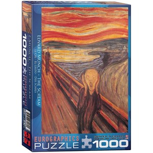 """Eurographics (6000-4489) - Edvard Munch: """"The Scream"""" - 1000 pieces puzzle"""