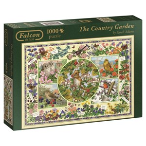"Falcon (11131) - Sarah Adams: ""The Country Garden"" - 1000 pieces puzzle"