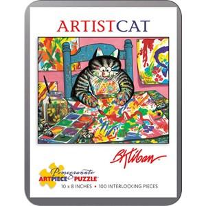 "Pomegranate (AA813) - Bernard Kliban: ""ArtistCat"" - 100 pieces puzzle"