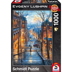 """Schmidt Spiele (59560) - Eugene Lushpin: """"Spring Morning in Montmartre"""" - 1000 pieces puzzle"""