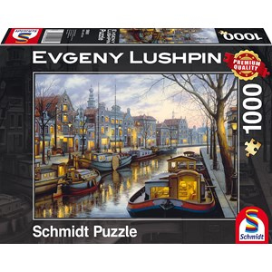 """Schmidt Spiele (59561) - Eugene Lushpin: """"On the Canal"""" - 1000 pieces puzzle"""