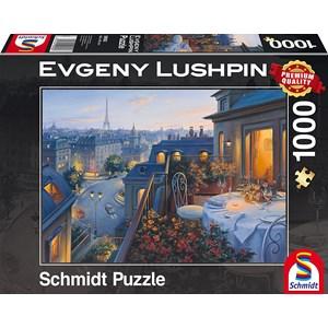 "Schmidt Spiele (59562) - Eugene Lushpin: ""Evening in Paris"" - 1000 pieces puzzle"