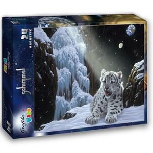 """Grafika Kids (01687) - Schim Schimmel: """"Ice House"""" - 24 pieces puzzle"""