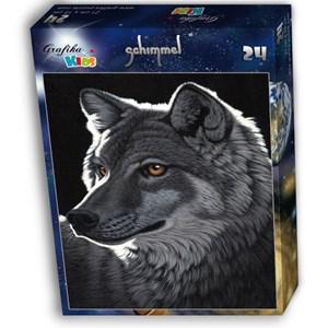 """Grafika Kids (01703) - Schim Schimmel: """"Night Wolf"""" - 24 pieces puzzle"""