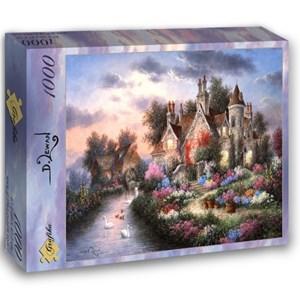 "Grafika (02492) - Dennis Lewan: ""Mill Creek Manor"" - 1000 pieces puzzle"