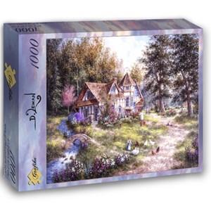 """Grafika (02493) - Dennis Lewan: """"Glacier Ridge Manor"""" - 1000 pieces puzzle"""
