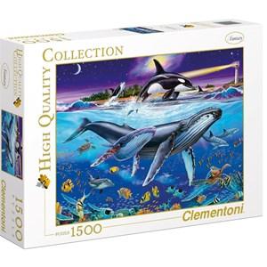 """Clementoni (94053) - Christian Riese Lassen: """"Whales"""" - 1500 pieces puzzle"""