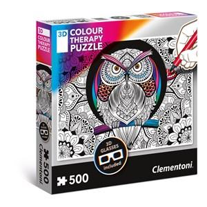 """Clementoni (35050) - """"Owl"""" - 500 pieces puzzle"""