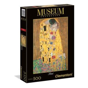 """Clementoni (35060) - Gustav Klimt: """"The Kiss"""" - 500 pieces puzzle"""