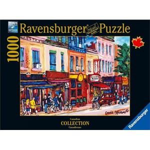 """Ravensburger (19624) - Carole Spandau: """"St. Laurent, Montreal"""" - 1000 pieces puzzle"""