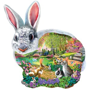 """SunsOut (95165) - Mary Thompson: """"Bunny Hollow"""" - 1000 pieces puzzle"""