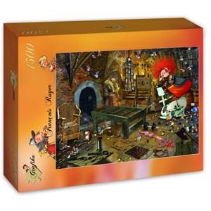 "Grafika (T-00594) - François Ruyer: ""Sports Hall"" - 1500 pieces puzzle"