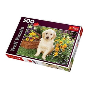 "Trefl (371604) - Greg Cuddiford: ""Labrador Puppy in the Garden"" - 500 pieces puzzle"
